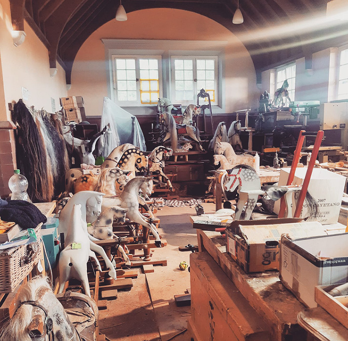 Being restored at The Rocking Horse Works