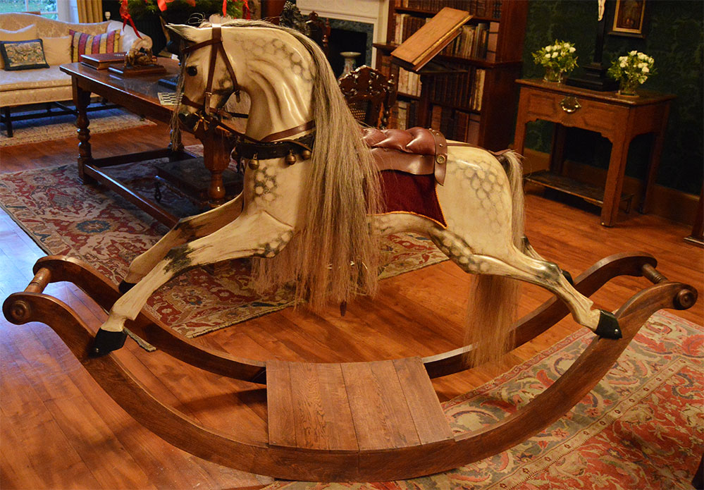 Rocking Horse Works at Stonor Park, Christmas